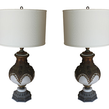 Pair of old lamps