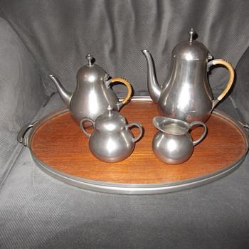 Daalderop Pewter coffee/tea set