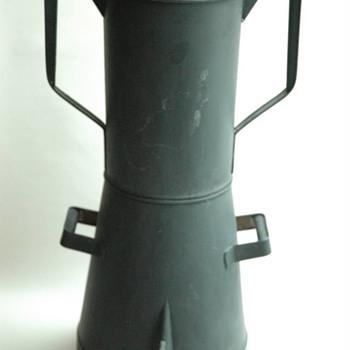 percolateur de bistrot en fer blanc vers 1900. antique tin coffee percolator circa 1900