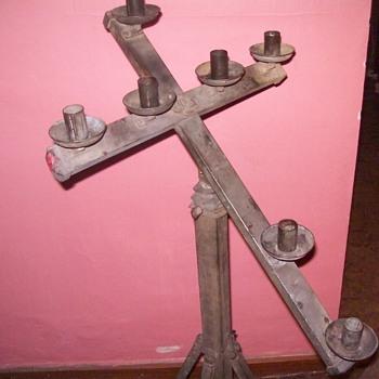 Brass telescoping folding cross