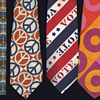 4 1960s- early 1970s Hippie Era Neckties / Ties.
