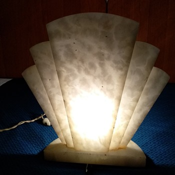 alabaster fan  lamp - Art Deco