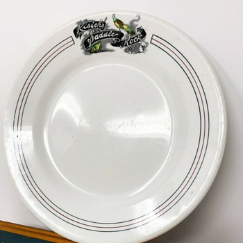 Kisich's Saddle Rock Plate - Oakland, California - Jack London - 1905 - China and Dinnerware