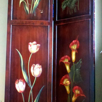Hand Painted Floral Screen - Furniture