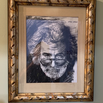 Jerry Garcia pencil etching  - Fine Art