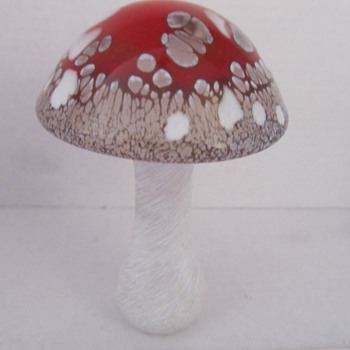 Heron Glass Mushrooms - Art Glass