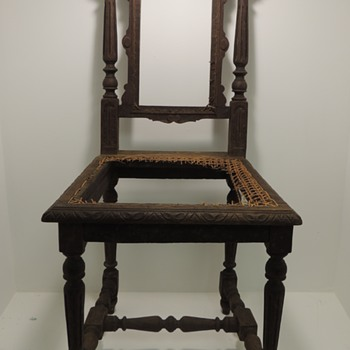 Carved Oak Side Chair - English (I think) - Furniture