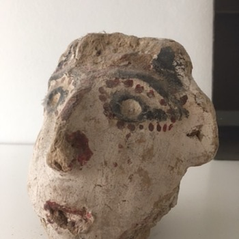 ID request Rajashtan clay head figure - Asian