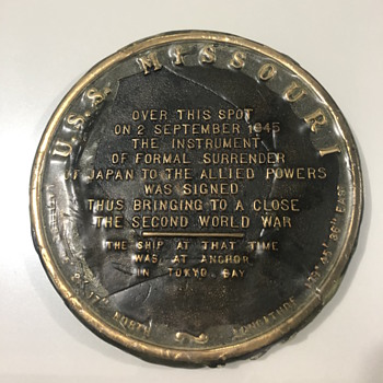 War Plaque - Military and Wartime