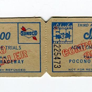 1973 Schaefer 500 TT Tickets @ Pocono Raceway