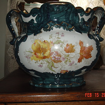 Grandmother's Beautiful Old Flower Pot - Pottery