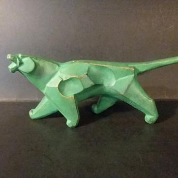 Saegusa Sotaro cast iron tiger okimono - Asian
