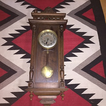 Antique  regulator wall clock with military time  - Clocks