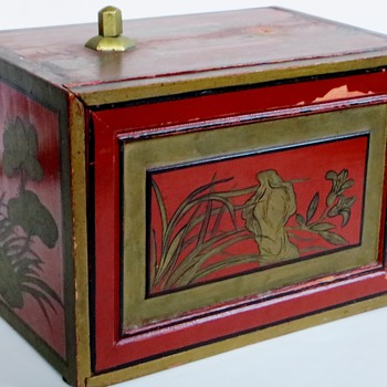 Today's find~Wonderful Red Chest w/Drawers~Japanese~Interesting Painting - Asian