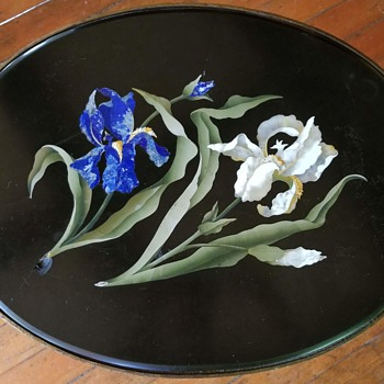 Pietra Dura Table with Irises, Made in Italy, Bencini, 1928 - Fine Art