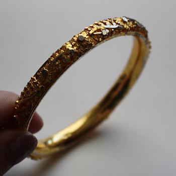 Bangle marked GG or CG - Costume Jewelry