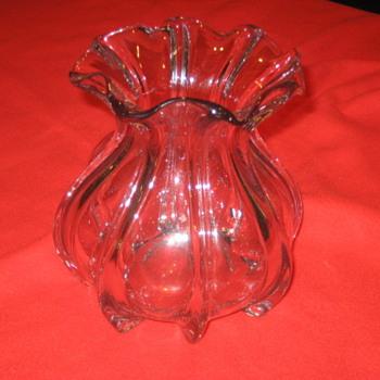 PURPLE VASE (RIBBON GLASS) - Art Glass