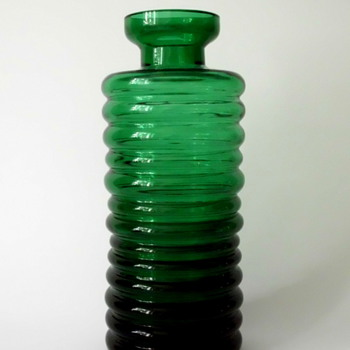 Cari Zalloni WMF Bottle Vase in Green - Art Glass
