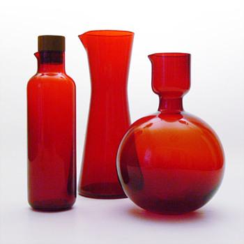 3 jugs by Klaus Breit (Wiesenthalhütte, 1959, 1957, 1968) - Art Glass