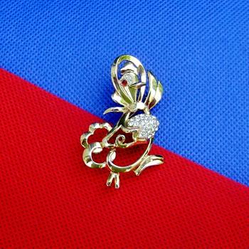 Crown Trifari Chicken Brooch - Costume Jewelry