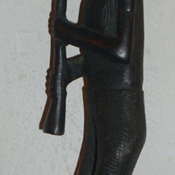 Man w/instrument - Folk Art