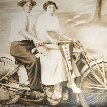 Photograph of Excelsior motorcycle - Photographs