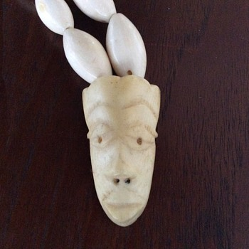 African face mask ivory necklace - Fine Jewelry