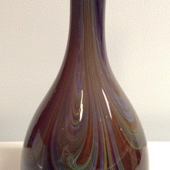 Vintage Boyce Lundstrom Glass Vase - Art Glass