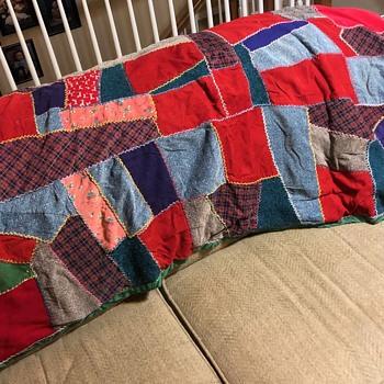 Great-Grandmother's 1920's Scrap Cloth Quilt - Folk Art