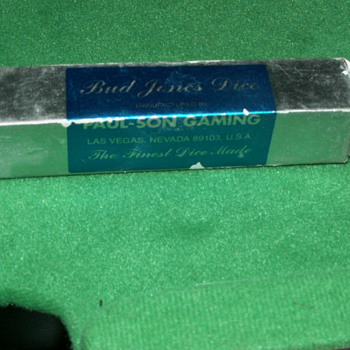 Vintage/Antique Castaway Casino (Unused) Dice Roll