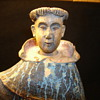 Antique Hand Carved Wooden Monk Statue