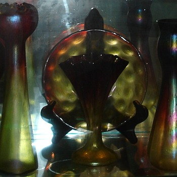 Rindskopf Pepita/Grenada Bowl - Art Glass