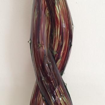 Large double thorn vase