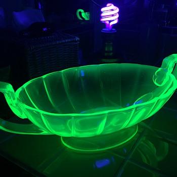 New Find - Vaseline/Uranium Glass bowl - Glassware