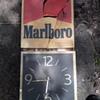 MARLBORO lighted clock (basket case)