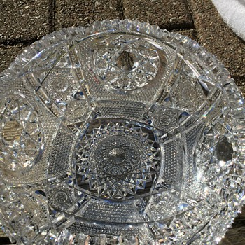 Love this heavy cut glass. - Art Glass