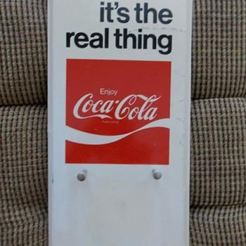 Coca Cola tin calendar page holder - Coca-Cola