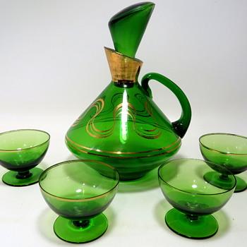 Mid Century Liqueur/Cordial Set - Glassware