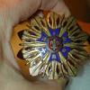 Post EX War Veterans Large 6 pointed Star in blue Enamel Corps Badge medal