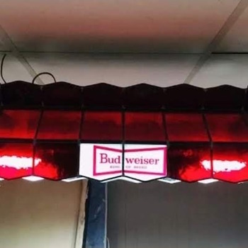 Anheuser Busch Budweiser Pool Table Light - Breweriana