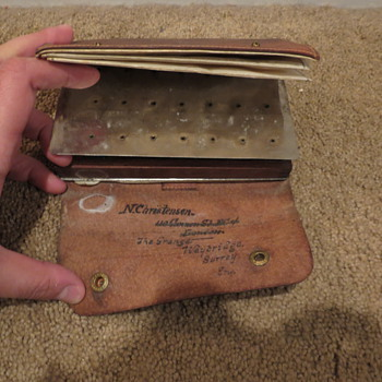 Very old fly fishing wallet, England...any ideas?
