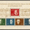 "1959 - W. Germany - ""Beethoven Hall"" Souvenir Sheet"