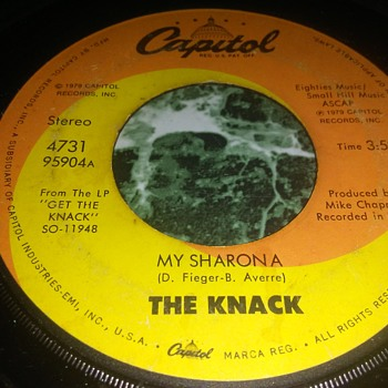 The Knack...On 45 RPM Vinyl - Records