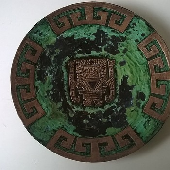 Peruvian Sterling Over Copper Wall Plate Thrift Shop Find 1 Euro ($1.10)