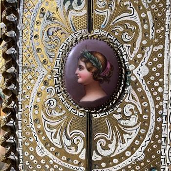 Duccio-style Frame with Santo Picture - Fine Art