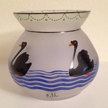 "Tiny Deco vase signed ""Pohl"" - Art Glass"