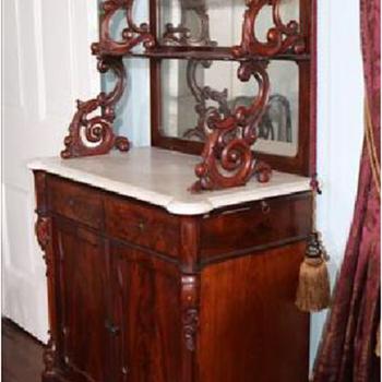 Victorian walnut serving etagere - Furniture