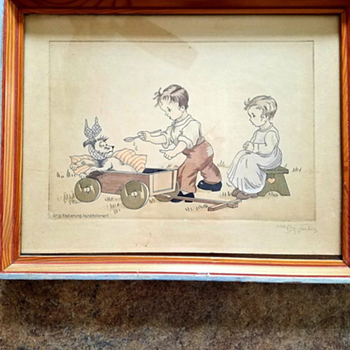 Can anyone share info about this Radierung print - Fine Art