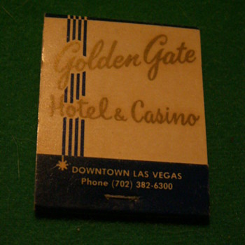 Vintage Golden Gate Casino ~ Las Vegas, Nevada (Fremont Street) - Tobacciana