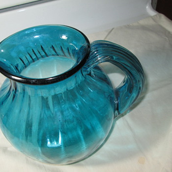 Handblown Glass Pitcher..Made by ??   - Glassware
